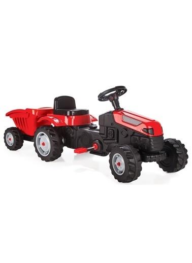 KeiKei Pilsan Active Römorklu Traktör Pedallı - Kırmızı 07-316 Renkli